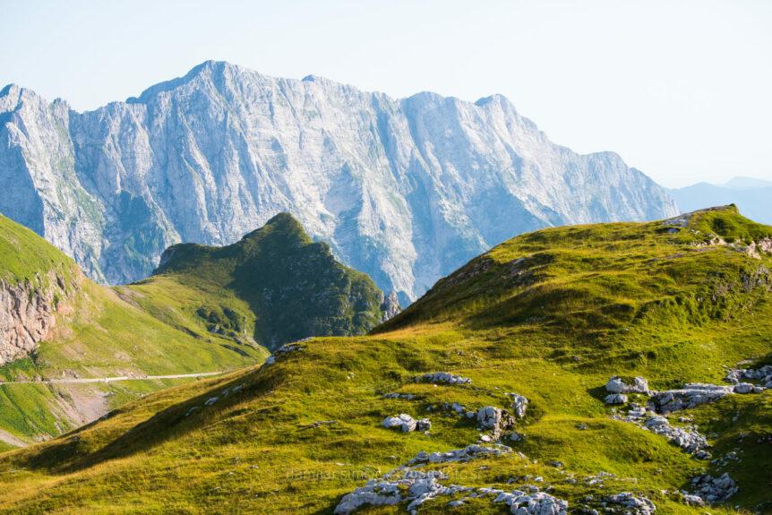 Вид с седла Мангарта на Альпы