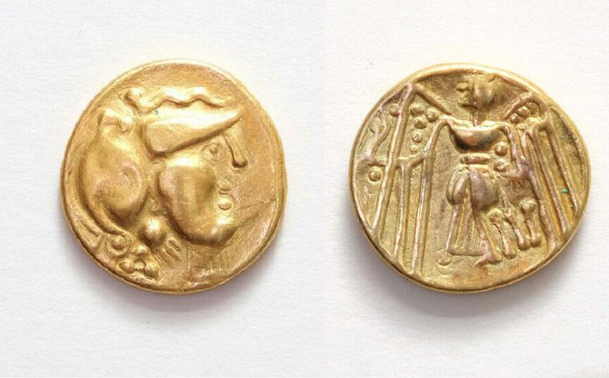 Золотая кельтская монета статер, найденная в Словении в 2018 году