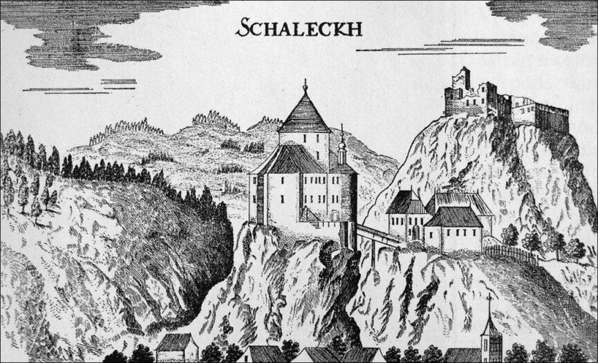 Замок Веленье на гравюре