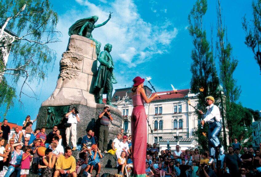Праздник в столице Словении