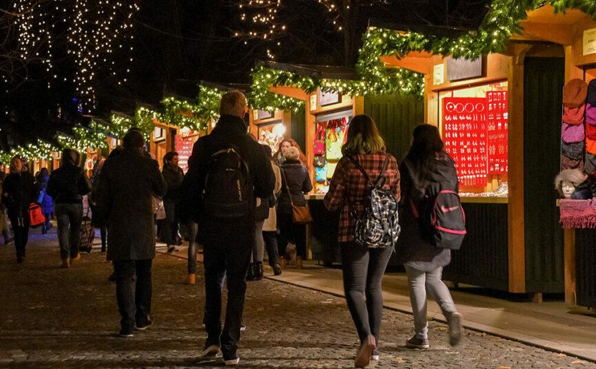 Рождественский базар в Любляне