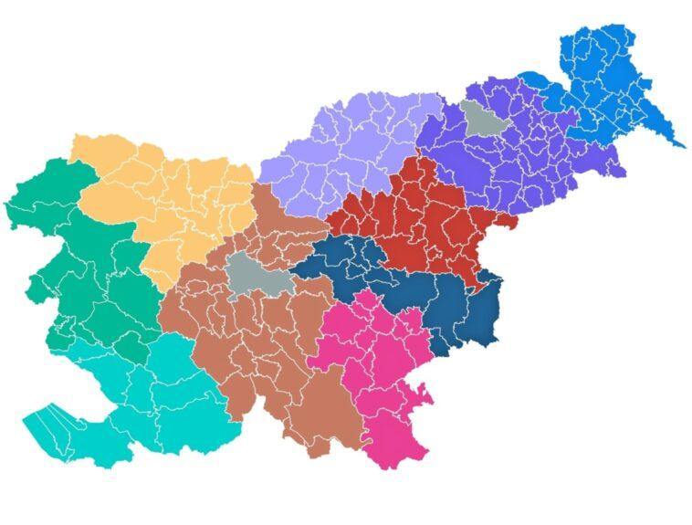 Новые регионы Словении