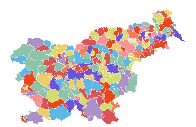 Общины в Словении