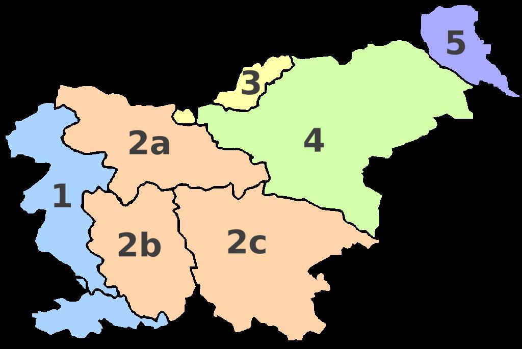 Провинции Словении