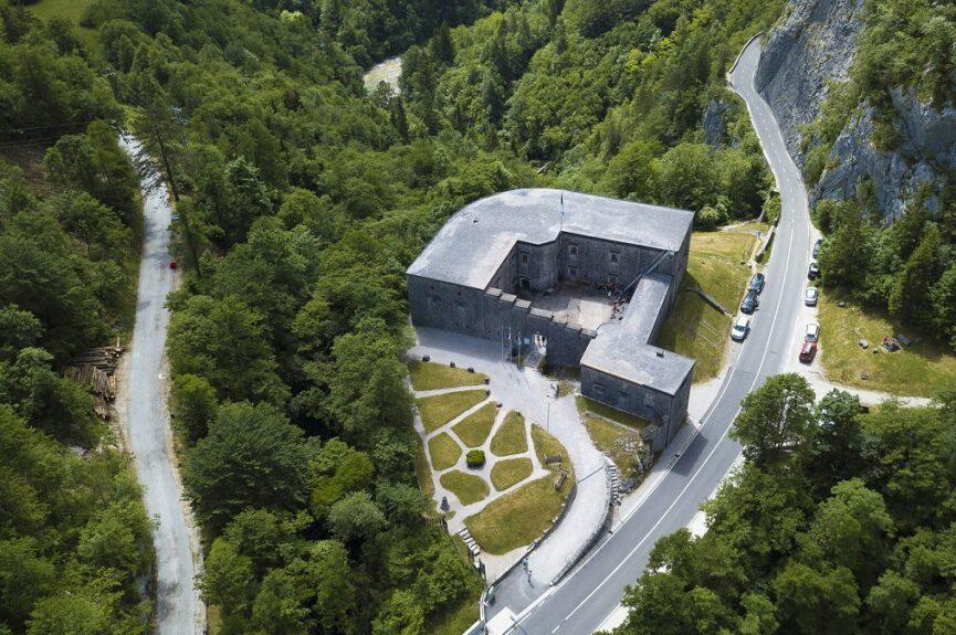 Вид на форт Клуже сверху