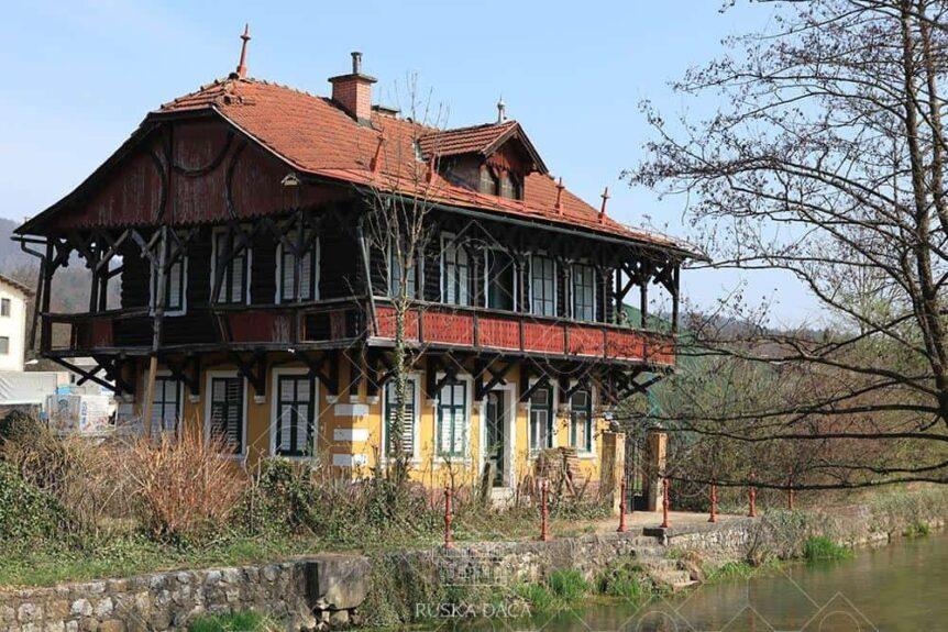 Русская дача на фото до реставрации
