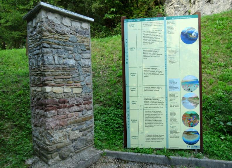 Геологический столб в Довжановом ущелье