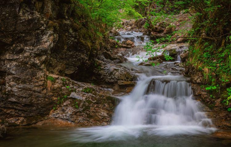 Самый длиный водопад Словении