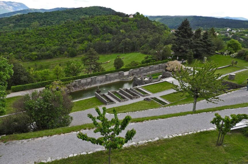 Террасная система в саду Феррари