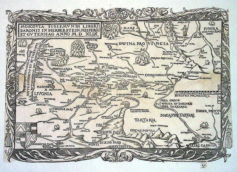 Карта Московского княжества 16 века