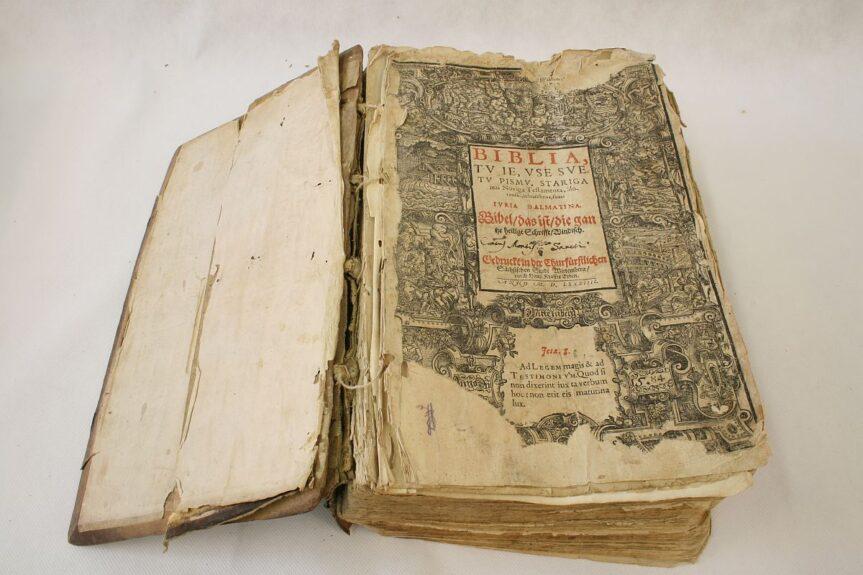 Библия Далматина перед реставрацией
