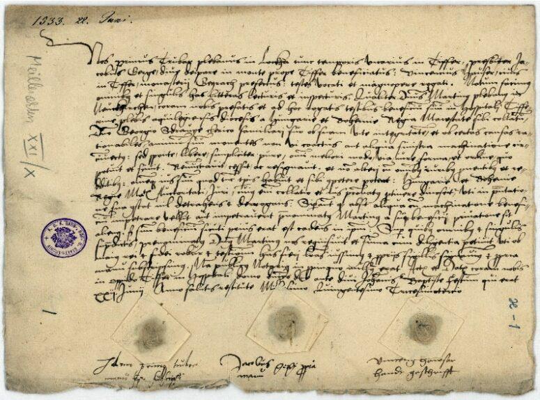 Первый документ с подписью и печатью Трубара