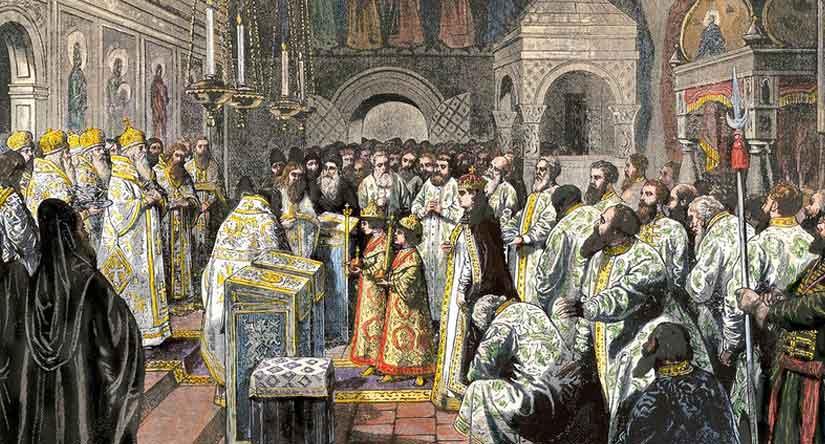 Венчание на царство Ивана V и Петра I, 25 июня 1682 года