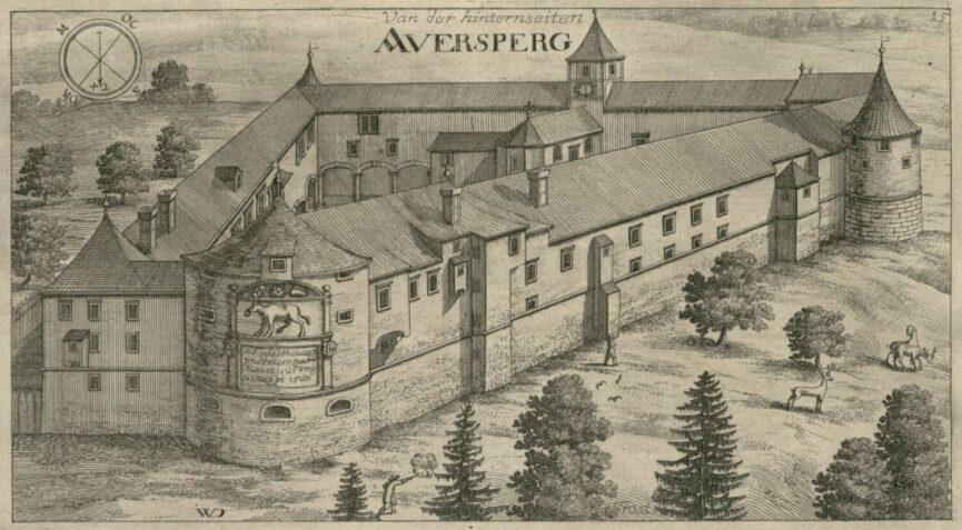Замок Турьяк на гравюре Я. В. Вальвазора