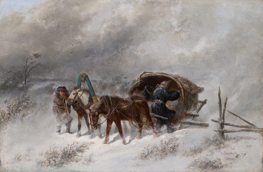 Зимние сани в России