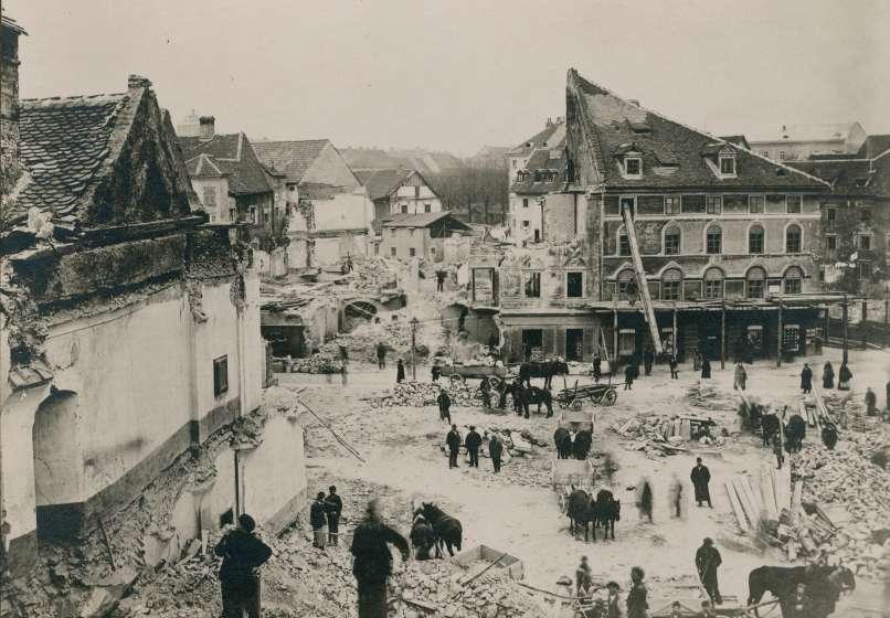 Любляна после землетрясения 1895 года