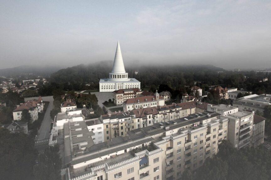 Кафедральный собор свободы в Любляне, нереализованный проект Плечника