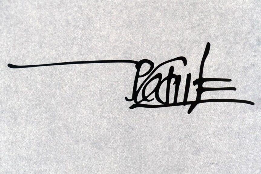 Подпись Йоже Плечника (фото Primož Hieng)