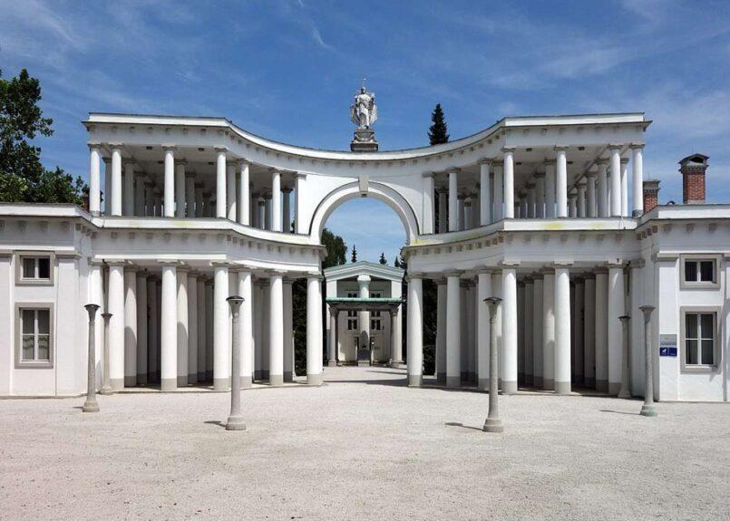 Центральное кладбище Любляны Жале, архитектор Й. Плечник