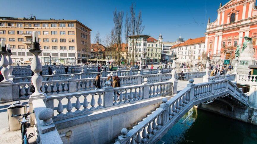 Любляна, трехмостовье