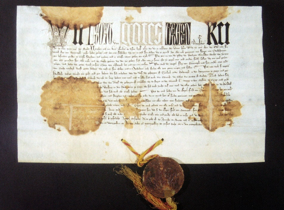 Документ императора Людвига IV Баварского